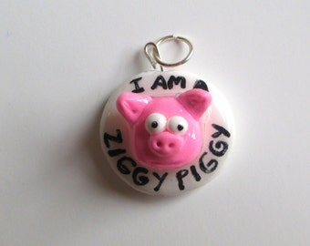 Ziggy Piggy Pendant, Bill and Ted's Excellent Adventure READY TO SHIP