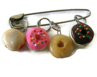 Donuts Stitch Markers/Charms 4 Piece