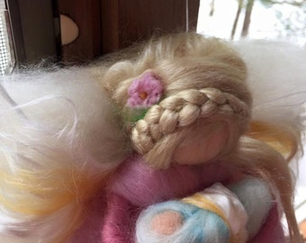Custom needle felted COMFORT ANGEL for a grieving mother