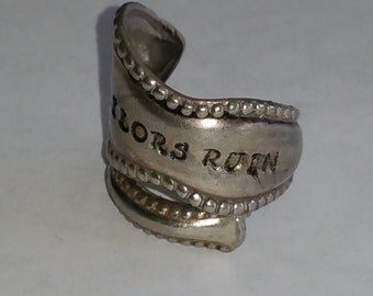 sailors ruin sliver plated spoon ring
