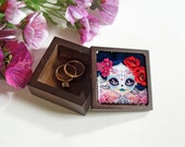Your Choice Wooden Small Trinket Box, Engagement Ring Box, Jewelry Box, Gift Box, Valentine's Day Gift, Tooth Fairy Box - MADE TO ORDER