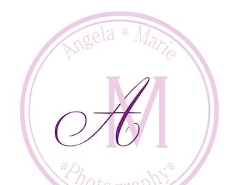 Custom Vector Circle Monogram, Wedding, Photography logo, Watermark, Business logo. Custom Design, vector quality!