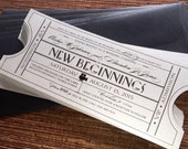 Vintage Film Invitation Single Ticket with envelope / Wedding / Corporate Event / Birthday / Shower