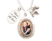 Wizard of oz necklace locket There's no place like Home Toto ..Dorothy and the Ruby red slippers