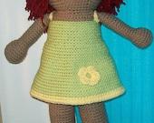 Crochet Amigurumi Red Headed Doll