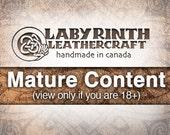 Belt Buckle, Leather Insert Belt Buckle, Buckle, Belt Buckle - Silence - MATURE