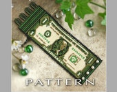 Peyote Beading Pattern : One Dollar Bill Bracelet Cuff - Instant Download