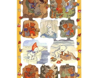 England Paper Scraps Bear Family By Ida Bohatta Die Cut Images  1937