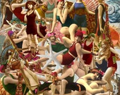 Digital Kit For Digital Art-  At the Beach- 25 Bathing Beauties with Shells and Background papers, PNG files-D28-Instant Download