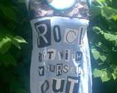 Rock Out With YourSELF Out Tunic Tank with Lace