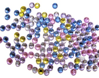 Faceted acrylic rhinestones pastel color mix 3mm 800 pieces