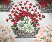 Vintage Fabric Flower Baskets
