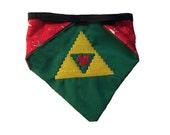 Zelda-inspired Triforce Paw reversible bandana