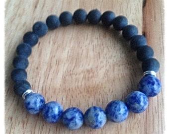 Mens onyx bracelet | mens stone bracelet | mens beaded bracelet | stacking bracelet | minimalist bracelet| gift for boyfriend| yoga bracelet