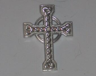 Large Sterling Silver Celtic Cross