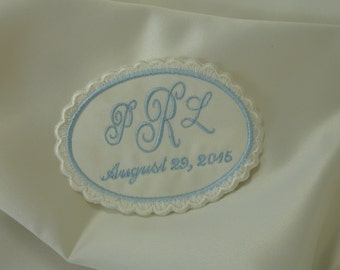 Wedding Dress Label. Wedding Dress Labels. Wedding Dress Patch. Something Blue Wedding Patch.  Monogram