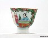 1900s Rose Medallion China Tea Cup, No Handle