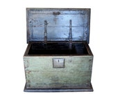 1780s Chinese Trunk, Antique Wood & Iron Historic Asian Storage Chest