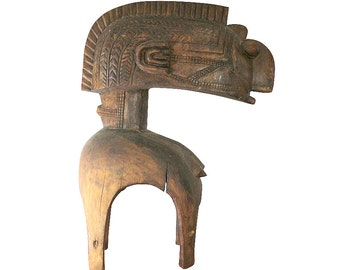 1900s African Nimba Helmet Mask from Guinea | Growth & Fertility Symbol