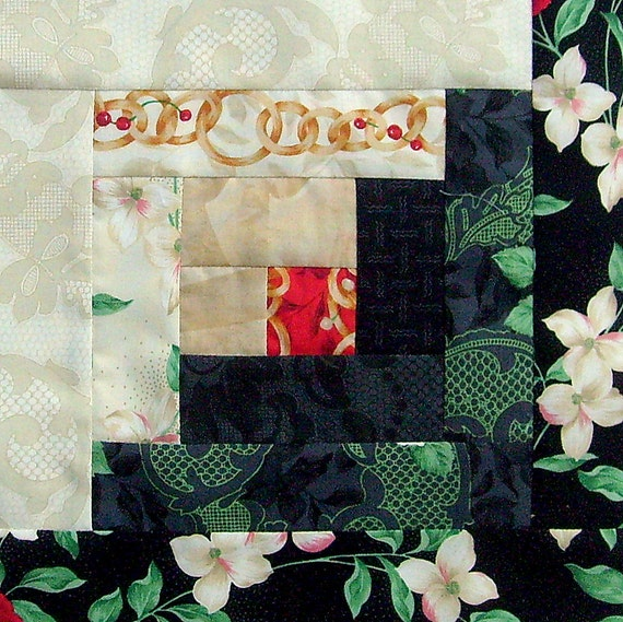 12 Block Log Cabin Pre Cut Quilt Kit 29x39 Legacy Blooms