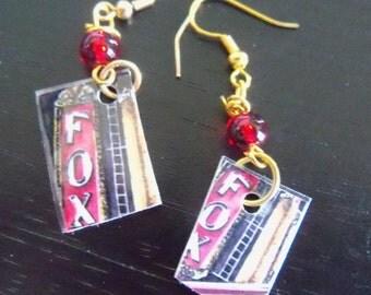 original art  earring Fox Theater red