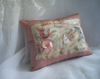 Made in USA  Gift For Mother As Seen At The Martha Stewart Wedding Party One Of A Kind Keepsake Accent Collage Pillow Handsewn ready to ship