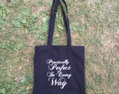 Mary Poppins Practically Perfect in Every Way Cotton Tote Bag