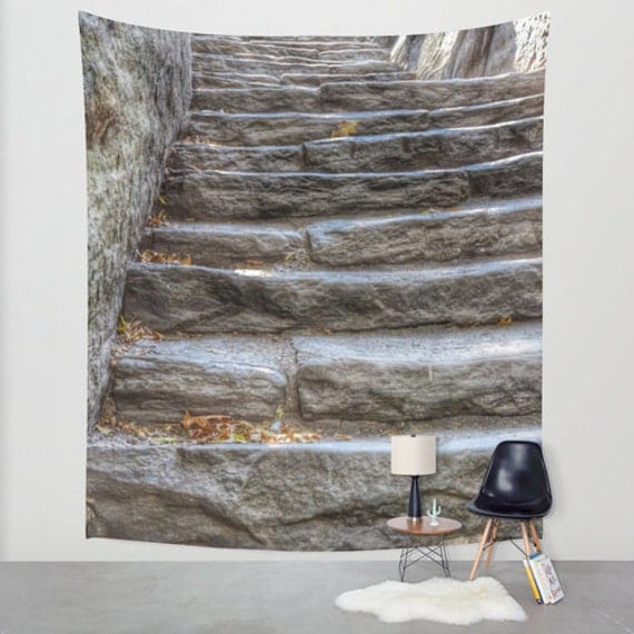 STONE STEPS in Central Park, New York, Wall Tapestry, Large Wall Art, Dreamy, Rustic, Fine Art Photography, Modern, Home, Wedding, Dorm
