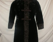 Vintage Ladies Black Monterey's Elegance Exclusivly for Del-Mann Hooded Trench Coat