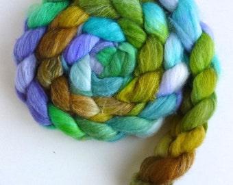 Merino/ Superwash Merino/ Silk Roving (Top) - Handpainted Spinning or Felting Fiber, Young and Old