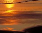 Ocean Photograph Beach Photo Sunset Photograph Surf Sun and Sand at Sunset Fine Art Photo Wall Decor