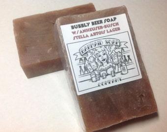 Beer Soap w/Lager -Sandalwood Amber Fragrance