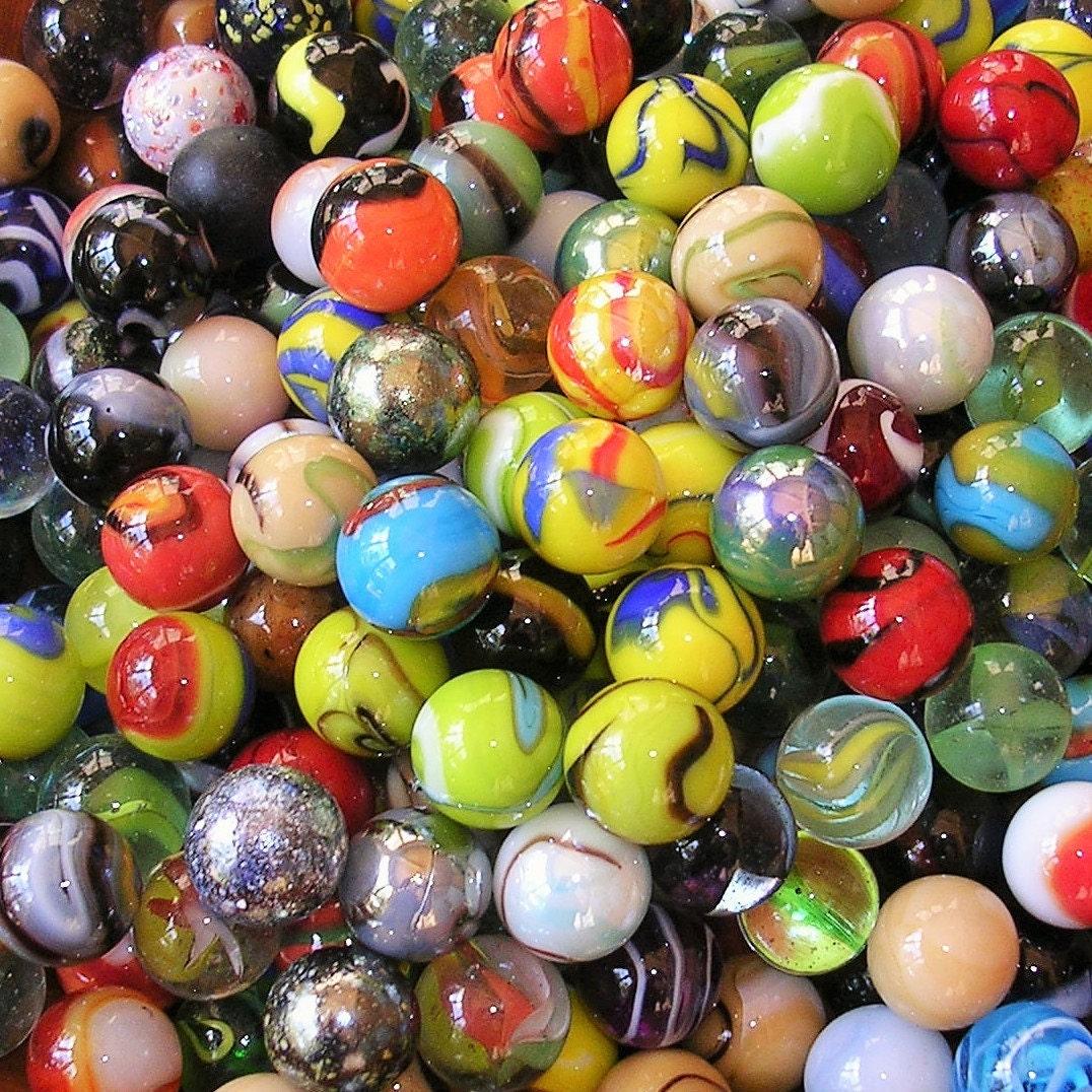 Vintage Marbles Lot Of 40 Vintage Marbles Vintage Marble Vacor