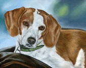 Custom Pet Painting of your dog or cat, custom size 16 x 20 Pet Portrait, Pet Lover Gift