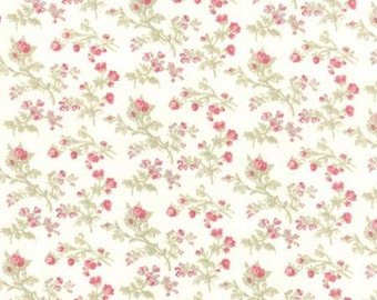 Quilting Cotton fabric   3 Sisters Favorite   Petite Roses China White 3770 11