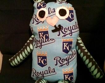Kansas City ROYALS RABBIT BUNNY Fabric Doll Stuffed Animal Ragdoll Toy