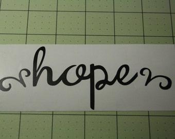 Inspirational Hope Decal