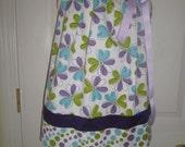 SALE, Girls Pillowcase Dress, Summer Dress, Party Dress, Summer cover-up, Floral Print, Purple, Infant, Toddler, Tweens
