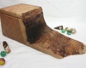 Butternut Wood Box, valet box, wedding gift, 5th anniversary gift, natural jewelry box, wood art, office desk organizer, small urn