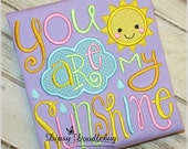 You Are My Sunshine Girls Pajamas -  Short Sleeve  Pajamas- Girls Pajamas -Sunshine Pajamas- Toddler Pajamas- You are my Sunshine