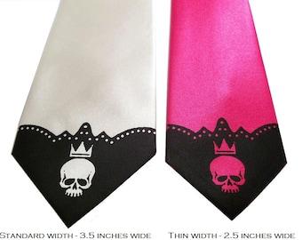 RokGear Necktie men microfiber standard width skull tie