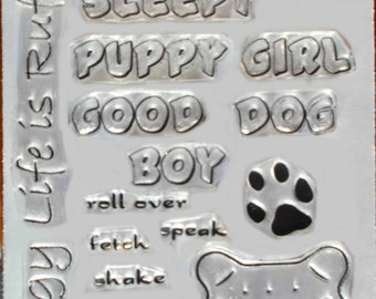 Janene's Crazy Dog clear art stamps