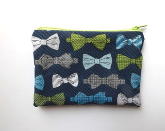 Zippered Snack Bag - Kids Snack Bag - Bow Ties - Lunch Pouch