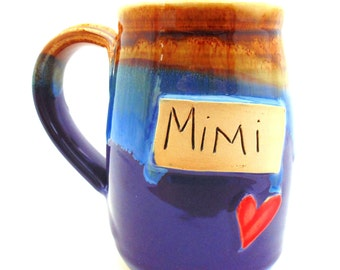 Handmade Pottery Mug Mimi purple Mug by Jewel Pottery