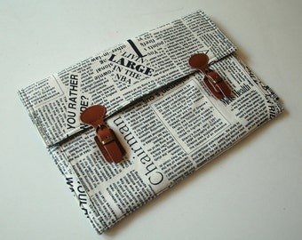 Laptop Case, for MacBook 11inch - 15inch and other laptop models. Newsprint/Linen/Padded.