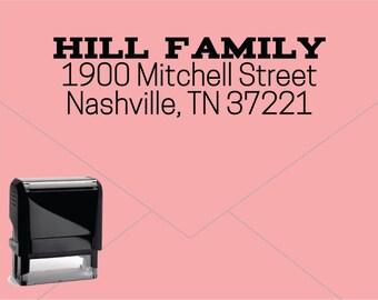 FREE US SHIPPING * Self Inking Return Address Stamp * Custom Address Rubber Stamp (E402)