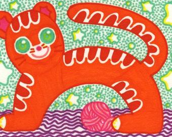 Kitty Cat Postcard/Print