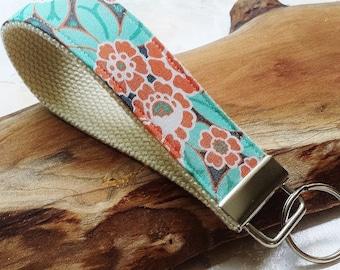 Fabric Wrist Key Chain / Key Fob / Fabric Keychain / Spring Fling