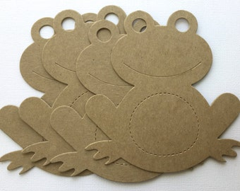 "LARGE FROG Chipboard Die Cuts -   Bare Animal Diecut Frogs - 4 1/4"" x 4 1/2"""