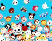 Special price 1 Disney Character  Disney tsum tsum fabric Print 100 cm by 106   cm or 39 by 42 inches